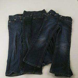 Girls denim jeans lot of 4 size 5